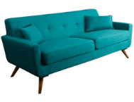 Bradley Blue Tufted Sofa