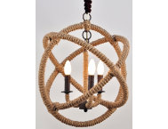 Tuscan 3 Light Rope Chandelier