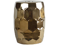 Helm Gold Garden Stool