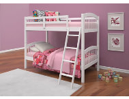 Manville White Twin Bunk Bed