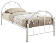 Silhouette White Twin Bed