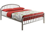 Cailyn Silver Twin Bed