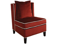 Ozella Red Armless Chair