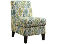 Green Storage Armless Chair