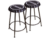 Mant Black Stool Set of 2