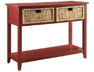 Flavius Burgandy Console Table