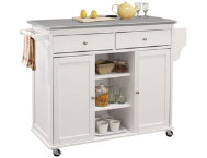 Tullarick White Kitchen Island