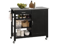 Ottawa Black Kitchen Island