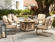 5-Piece-Gas-Firepit-Set