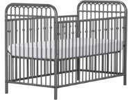 Ivy Gray Metal Crib