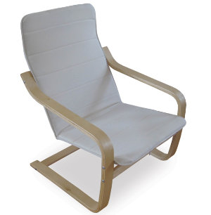 Bentwood Chair w  Fabric Seat