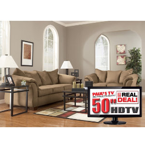 more real deal packages 7 piece living room package with tv