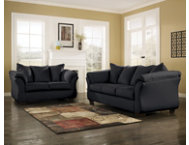 COLORS Black Sofa  Loveseat