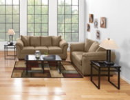 COLORS Mocha Sofa  Loveseat