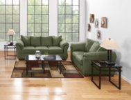 Darcy Sage Sofa & Loveseat Set