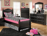 shop Jaidyn-Dresser,-Mirror,-Tw-Bed