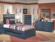 Leo Dresser, Mirror, Twin Bed