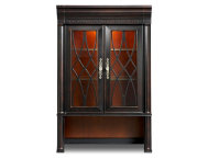 Bookcase Hutch Glass Doors