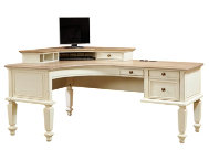 Cottonwood L Desk with Hutch