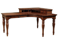 E2 Cherry L Desk Set