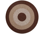 Afton 6' Round Brown Rug