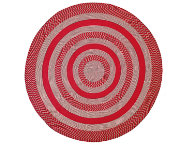 Colby 6' Round Red Rug