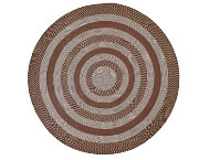 Colby 6' Round Chocolate Rug