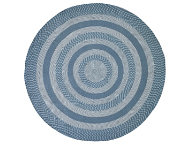 Colby 6' Round Blue Rug
