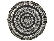 Colby 8' Round Black Rug