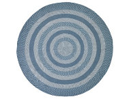 Colby 8' Round Blue Rug