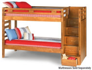 shop Twin Step Bunk Bed
