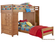 Twin Step Loft With Chest
