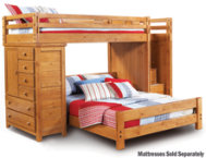 shop Twin-Full Step Loft With Chest