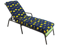 Wolverines 3pc Chaise Cushion