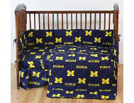 Wolverines 5pc Crib Set