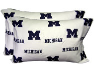 Wolverines White Pillowcase