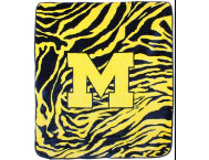 shop Wolverines Zebra Blanket