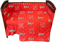 Nebraska Red Crib Sheet