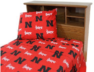 Nebraska Red TwinXL Sheets