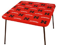 Nebraska Card Table Cover