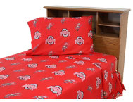 Ohio State Queen Sheet Set