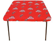 Ohio State Card Table Cover