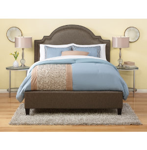 Stoked Pewter Upholstered Bed Upholstered Beds
