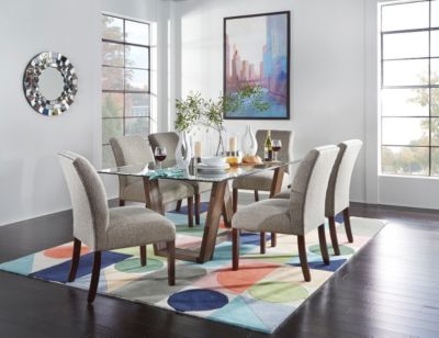 Upholstered Parsons Collection Casual Dining Dining Rooms