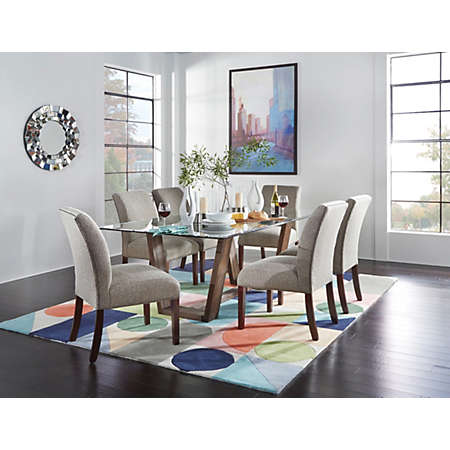 Upholstered Chairs Dining Room gold and brown upholstered dining room chairs Shop Upholstered Parsons Collection Main