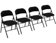 Black Folding Chair Set of 4