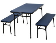 Blue 3PC Table and 2 Benches