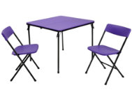 Purple 3PC Table and 2 Chairs