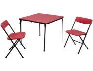 Red 3PC Table and 2 Chairs