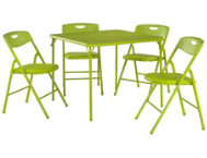 Green 5PC Table and Chair Set